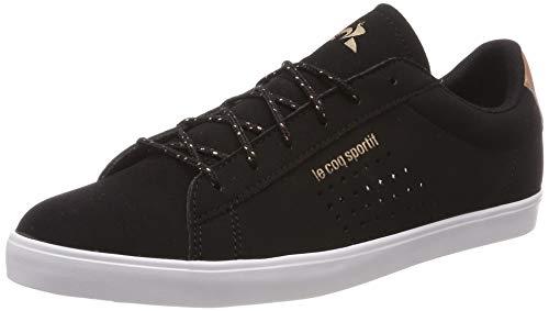 Le Coq Sportif Agate, Baskets Femmes, Noir Black/Rose Gold, 39 EU
