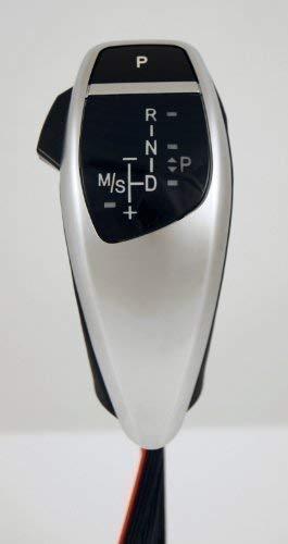 LED Gangschaltung Knauf für 1er Serie (E82 E87), 3er (E90 E91 E92 E93), X1 (E84), Z4 (E89) - LHD - Silbern
