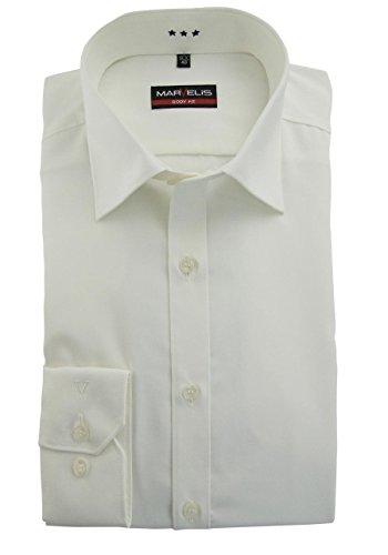 MARVELiS 6799–64–00 bODY-chemise-fIT 100%  coton blanc - 82 beige
