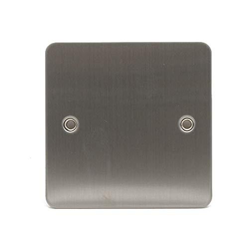 Sinoe Electrical C401DMF 1-fach gebürstetes Chrom 2 Gang Blank Plate