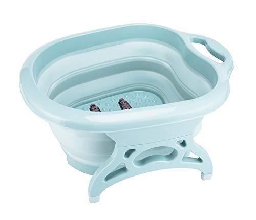 Idromassaggiatore plantare portatile bacino/baratolo / vasca di plastica pieghevole con rulli massaggianti, blue