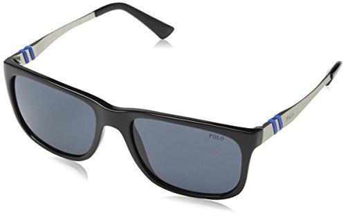 Polo Ralph Lauren Herren PH4088 Sonnenbrille, Schwarz (Shiny Black 500187), One size (Herstellergröße: 55)