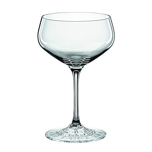 Spiegelau & Nachtmann, 4-teiliges Cocktailschalen-Set, Champagnerschale/Coupette Glas, Kristallglas, 235 ml, Perfect Serve, 4500174 Margarita Gläser