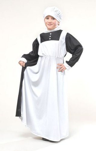 Florence Nightingale Victorian Childs Fancy Dress Costume - M 134cms by Parties Unwrapped (Kostüm Fancy Dress Florence Nightingale)