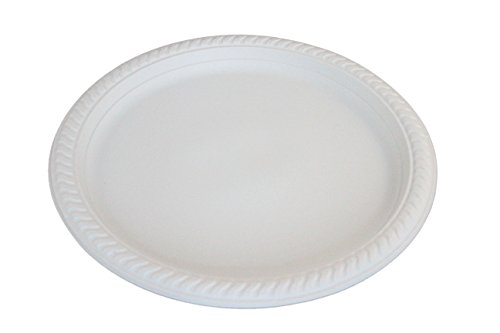 Yumi Return Compostable Natural Starch White 10 3/8-Inch Plate, 500-pieces