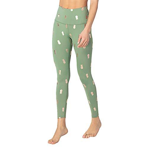 Spitze Shorts Damen Hose Pants Jogginghose Ladies'digital Printed Jacquard Hip High Taille Übung Laufen Yoga Pants Lounge Shorts Shorts Yoga Laufen Active Gym Workout Shorts(Grün.S) -