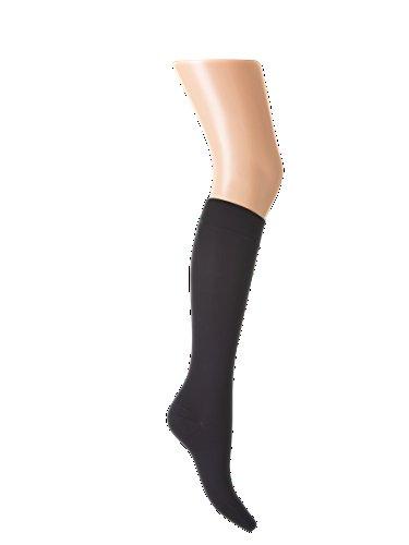 Medizinische Knielange Kompressionsstrümpfe Kniestrümpfe (AD), Klasse 1, Schwarz (XXL)