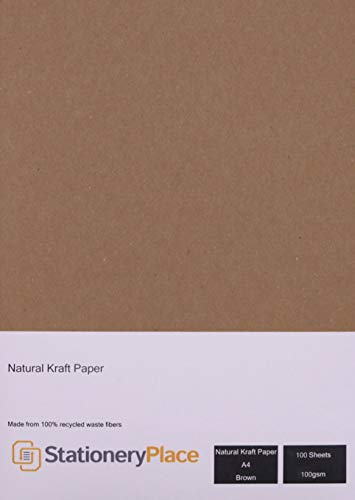 Papel kraft natural reciclado Stationery Place Kraft