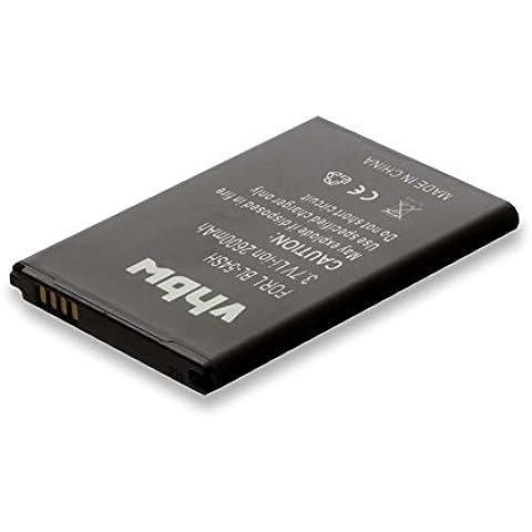 vhbw Li-Ion batería 2600mAh (3.8V) para teléfono móvil Smartphone teléfono LG F320K, F320L, F320S, F520, G2, G3 Beat, G3 mini, G3 S por