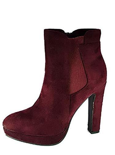 PICCOLI MONELLI Tronchetto Donna con Tacco Alto Elegante 40 Colore Nero  Stivaletto Invernale Basso alla Caviglia b8332a1bd2e