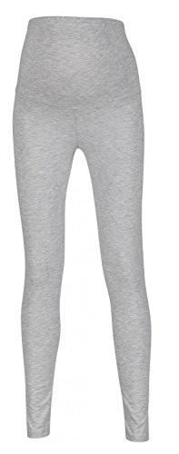 Happy Mama. Para mujer premama leggings banda elástica para la barriga. 975p (Mezcla De Grises, EU 42, XL)