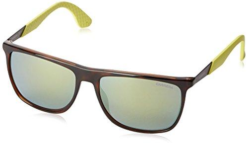 Carrera Herren 5018/S QU MDH Sonnenbrille, Grün (Havana Bw Black Lime/Yellow Fl), 56