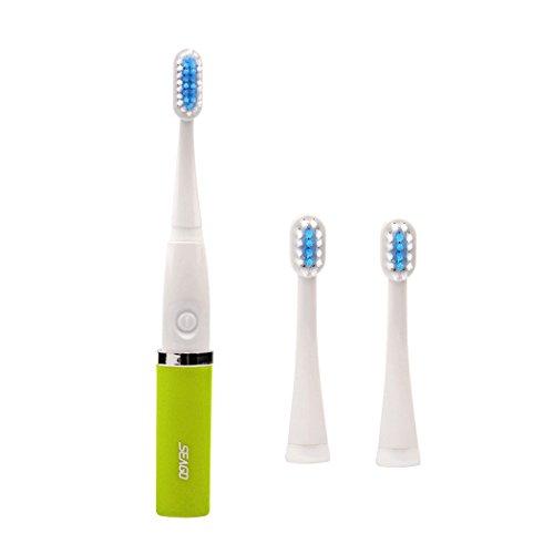 inkint Sonic Ultraschall Elektrische Zahnbürste mit zwei Austauschbaren Bürstenköpfen IPX7 Wasserdicht Batteriebetriebene Tragbare Elektrische Cosmetic Dentistry