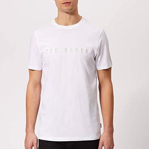 Ted Baker T-Shirt mit erhöhtem Logo, Weiß - Weiß - Small (Männer T-shirts Ted Baker Für)