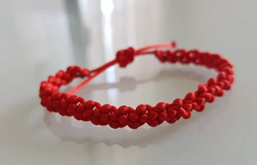 Pulsera Roja de la Suerte en Macrame Pulseras Hilo Bisuteria/Macrame Bracelet Good Luck
