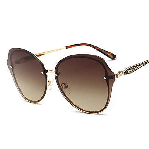 LLISA Mode glitzernden Rahmen runde Sonnenbrille Frauen Markendesigner Farbverlauf Sonnenbrille Mode Goggle,A4