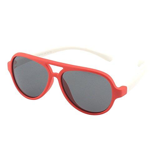 CGID caoutchouc flexible enfants Pilot lunettes de soleil polarisées pour bébé et enfants 3-6 ans, K93