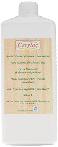 Reines Mineralöl für Holz, Schiefer und Stein - 1000 ml. Lebensmittelqualität. Mit Zulassung des britischen und spanischen Arzneibuchs, US-DAB-Zertifizierung, Zertifizierung nach Codex USB178.3620 (a) und Spezifikation nach FDA172.878 USP.