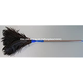 Duster ostrich feather with telescopic handle 75cm–125cm Ostrich Feathers Black