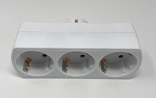 1 Stck Steckdosenverteiler Mehrfachsteckdose Schuko Steckdosenleiste Steckdose 3fac (3fach)