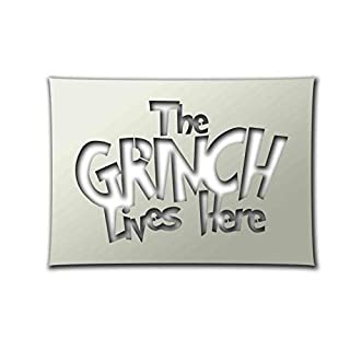 Apex Laser Ltd The Grinch Lives Here Christmas Stencil - A4 Airbrush, Sponging, Aerosol, Pastels, Snowspray, ST-CR-Relig01