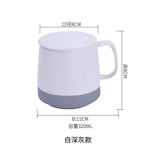 Tasse feiner Becher Kaffeestube Hotel 12 Farben wahlweise freigestellt europäischer Art einfacher Keramik Becher mit Deckel moderner kreativer duftender Tee Mattkaffee Büro-Haushaltsgeschenk D 320ml