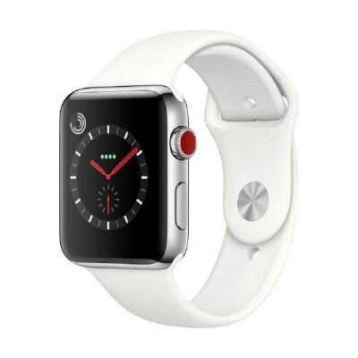 Apple Watch Series 3 OLED GPS (satélite) Display diagonal Acero inoxidable reloj inteligente - relojes inteligentes (OLED, Pantalla táctil, GPS (satélite), Móvil, 52,8 g, Acero inoxidable)