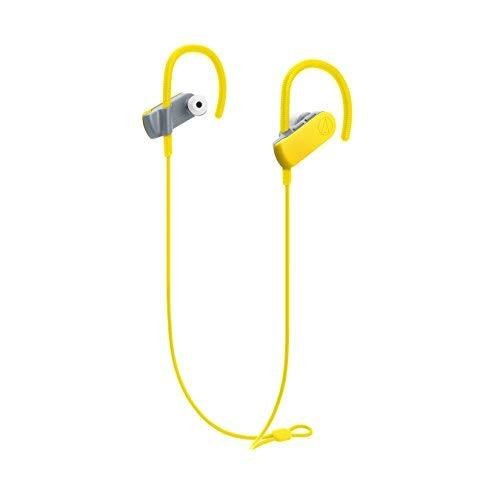Audio-Technica ATH-SPORT50BTYL Casque Bluetooth Sport, Jaune, ATH-SPORT50BT