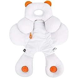 Support pour le cou pour bébé 2 en 1, réversible, pour Poussette/Siège de Voiture, Amovible, Coton Bio, Oreiller Réglable Pour Bébé, Unisexe Cadeau Bébé Nouveau-Né