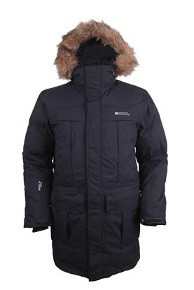 timeless design 0ceab 38516 Mountain Warehouse Chaqueta Antarctic Extreme Down para Hombre - Cintura  Ajustable, Abrigo Impermeable, Abrigo