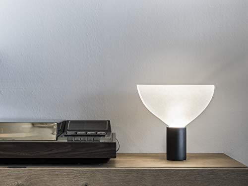 V.ALE - Tischlampe - abat-jour - schwarz matt - Keramik - Pergament - Design -