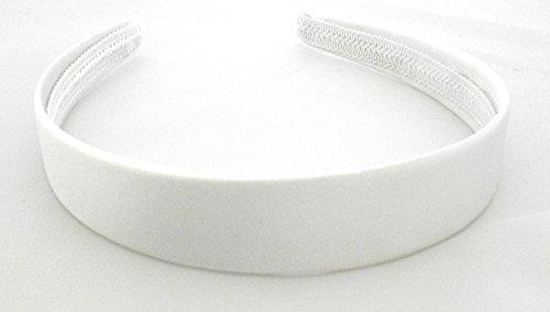 aliceband - weiß einfach 2.5cm breit Satin Haarband Haarreif