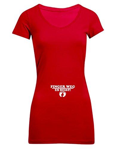 Finger weg - es beißt, Frauen T-Shirt Extra Lang - ID104227 cherryberry
