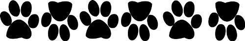 Dog Paw in Vinile 6zampe taglia 10cm circa 4cm