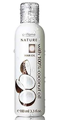 Oriflame Nature Huile pour cheveux avec huile de noix de coco, 100 ml