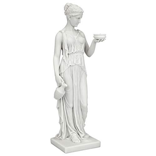 Design Toscano Göttin der Jugend - Statue aus kunstharzgebundenem Marmor, Maße: 7,5 x 10 x 29 cm -