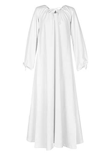 Battle-Merchant Mittelalterkleid Ana - div. Farben - Wikingerkleid - Mittelalter Kleid - Wikinger - LARP (M, Weiß) (Kleid Mittelalter Kostüm Weißes)