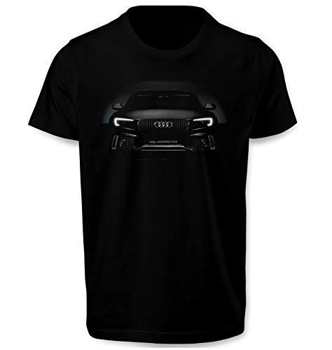Audi RS6 Quattro Angel Eyes Herren T Shirt T-Shirt Prime Quality Kurzarm (Schwarz, S)