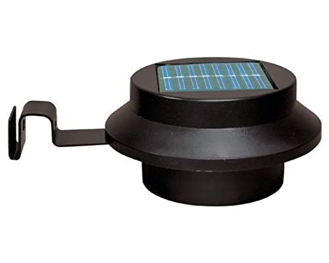 Tooltime Lot de 4appliques solaires puissantes 3 LED pour gouttières
