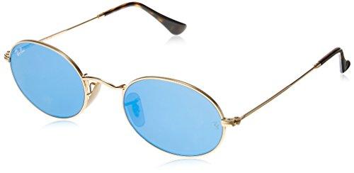 Ray-Ban Metal Unisex Non-Polarized Iridium Round Sunglasses, Gold, 48 mm