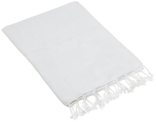CACALA Türkische Badetücher, Pure-Serie, baumwolle, weiß, 95 x 175 x 0.5 - Weiße Türkische Handtücher