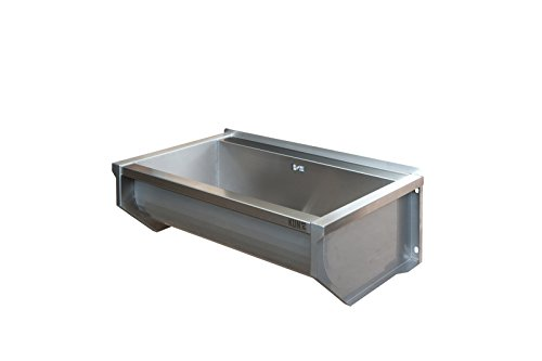 KUNe 70 cm Ausgussbecken | Waschtrog aus Edelstahl inkl. Befestigungsmaterial EINWEG