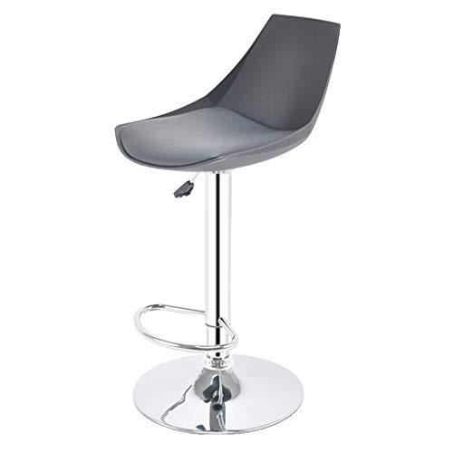 Gxdhome cucina casa sgabelli da bar altezza regolabile perno ecopelle sedia nero indietro schienale bracciolo poggiapiedi prima colazione contatore cenare alto sgabelli da bar