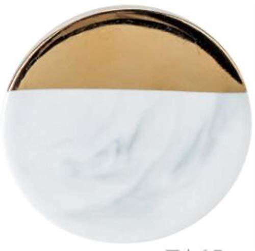 HAHAJY Marmorkorn Untersetzer Keramik Untersetzer Kaffee Teetasse Pad Runde Tischset Tischsets, Schräge Kreis grau