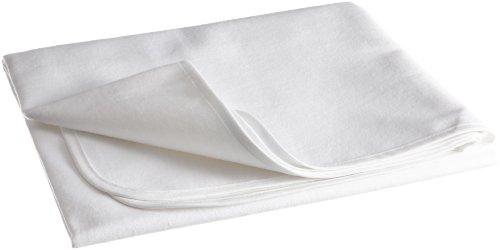 MSS 400250-90.200 Molton-Matratzenschutzauflage bei Inkontinenz, Polyurethan-Beschichtung, 4 Eckgummis, 90 x 200 cm, weiß