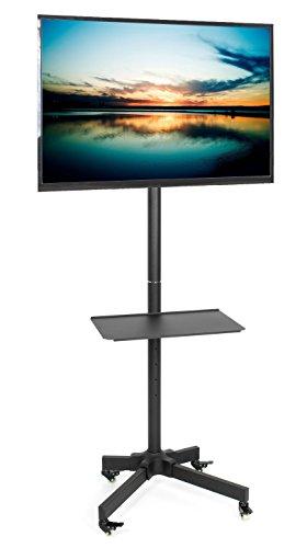 Vivo Mobile TV Wagen für LCD LED Plasma Flach Bildschirm Panel Trolley Bodenständer mit feststellbare Rollen   passt 58,4cm zu 139,7cm (stand-tv04m) (Plasma-lcd-tv-wagen)