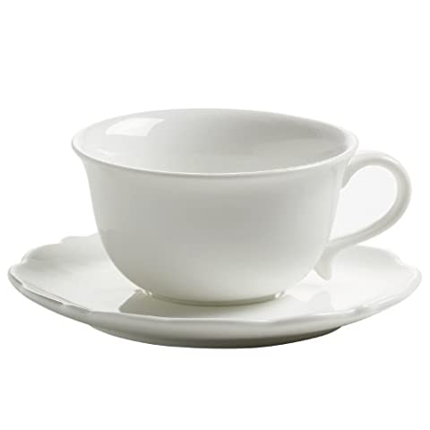 Maxwell & Williams White Rose, Cup for Espresso with Saucer, for Coffee, White, JX76500