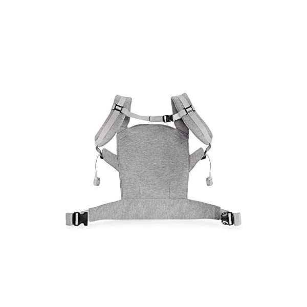 kk Kinderkraft Milo Ergonomic Baby Carrier Front Gray kk KinderKraft Ergonomic baby carrier for children aged from 3 months up to 20 kg Two baby carrying positions: on the stomach and on the back Rubber bands so that the belt ends do not hang 3
