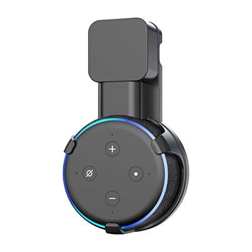 Soporte para Dot (3.ª generación) Cozycase, gestión de Cables incorporada sin Tornillos, Estuche Compacto en cocinas, baño y Dormitorio - Negro