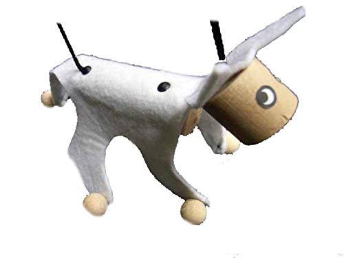 e Kindermarionette Holz Filz Kalle Fux Holzspielzeug Kind Katze weiß ()